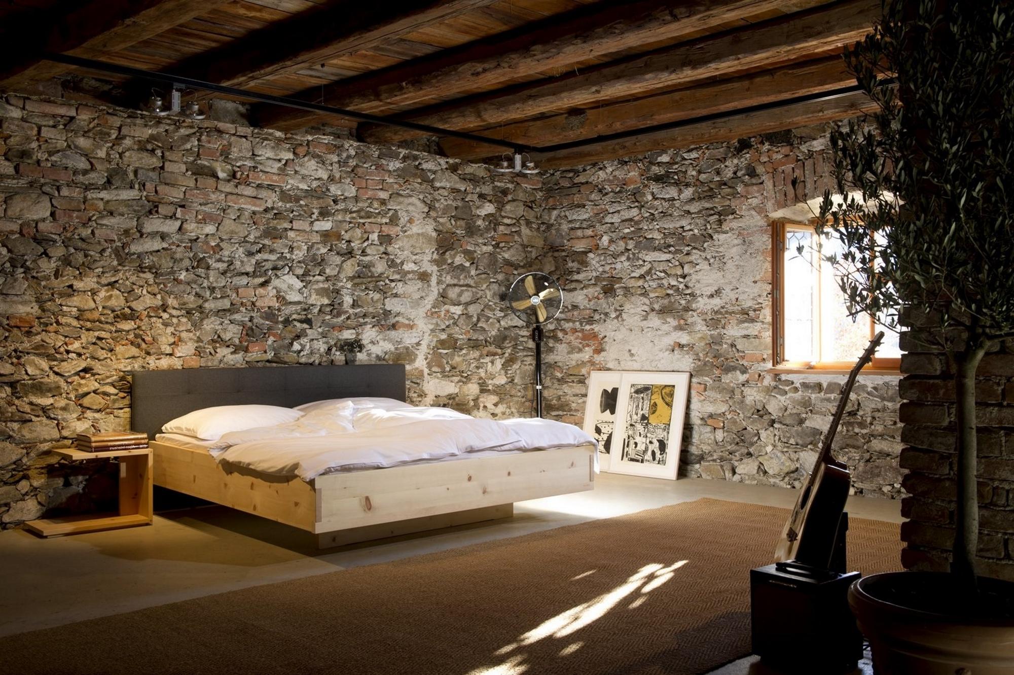 zirbenbett tfs6 kopfteil loden von tobias felgner. Black Bedroom Furniture Sets. Home Design Ideas